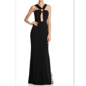 Laundy by Shelli Segal Womens Front Key Whole Gown